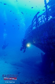 kt12 wreck and a diver